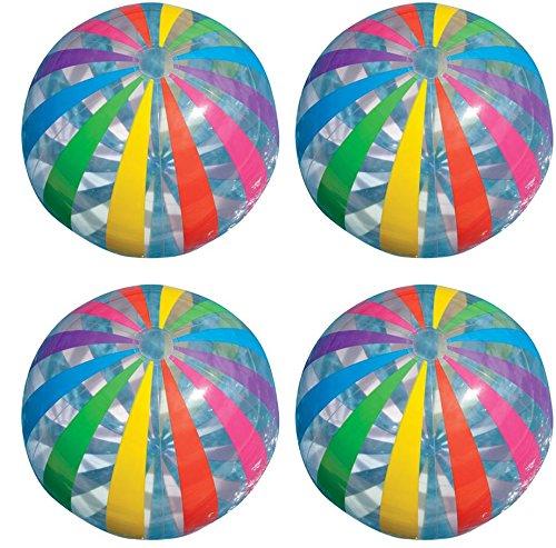 Intex Jumbo Inflatable Big Panel Colorful Giant Beach Ball (Set of 4) | 59065EP by Intex