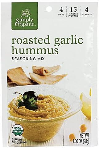 Simply Organic Mix, Roasted Garlic Hummus, 1 Ounce (Pack of 12) (Roasted Garlic Hummus)