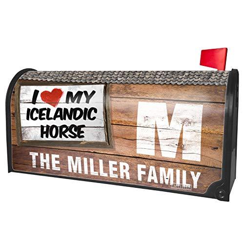 Love Icelandic Horse - NEONBLOND Custom Mailbox Cover I Love My Icelandic Horse