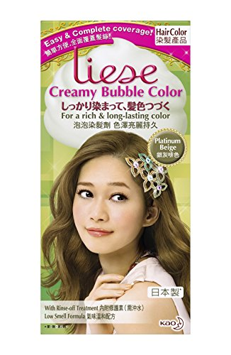 Kao Liese Soft Bubble Hair Color Platinum Beige Buy