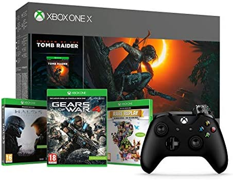 Xbox One X-Consola 1TB+Shadow Of The Tomb Raider + Microsoft - Mando Inalámbrico, Color Negro (Xbox One), Bluetooth: Amazon.es: Videojuegos