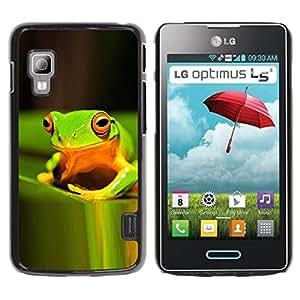 Paccase / SLIM PC / Aliminium Casa Carcasa Funda Case Cover para - Green Rain Forest Happy Nature Tropical - LG Optimus L5 II Dual E455 E460