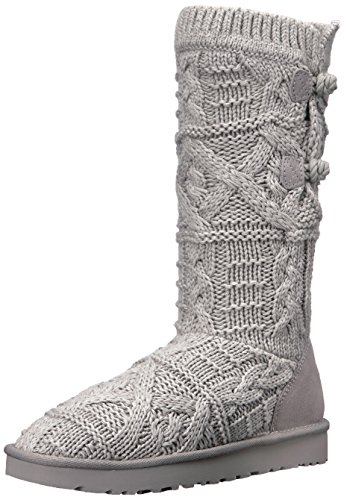 UGG Women's Kalla Winter Boot, Seal, 7 M US (Leather Boots Women Uggs)