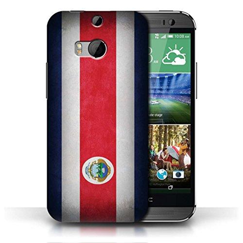 Etui / Coque pour HTC One/1 M8 / Costa Rica conception / Collection de Drapeau