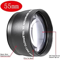 NEEWER® 55mm Telephoto Lens w/ Bag For Sony A100 A200 A230 A300 A330