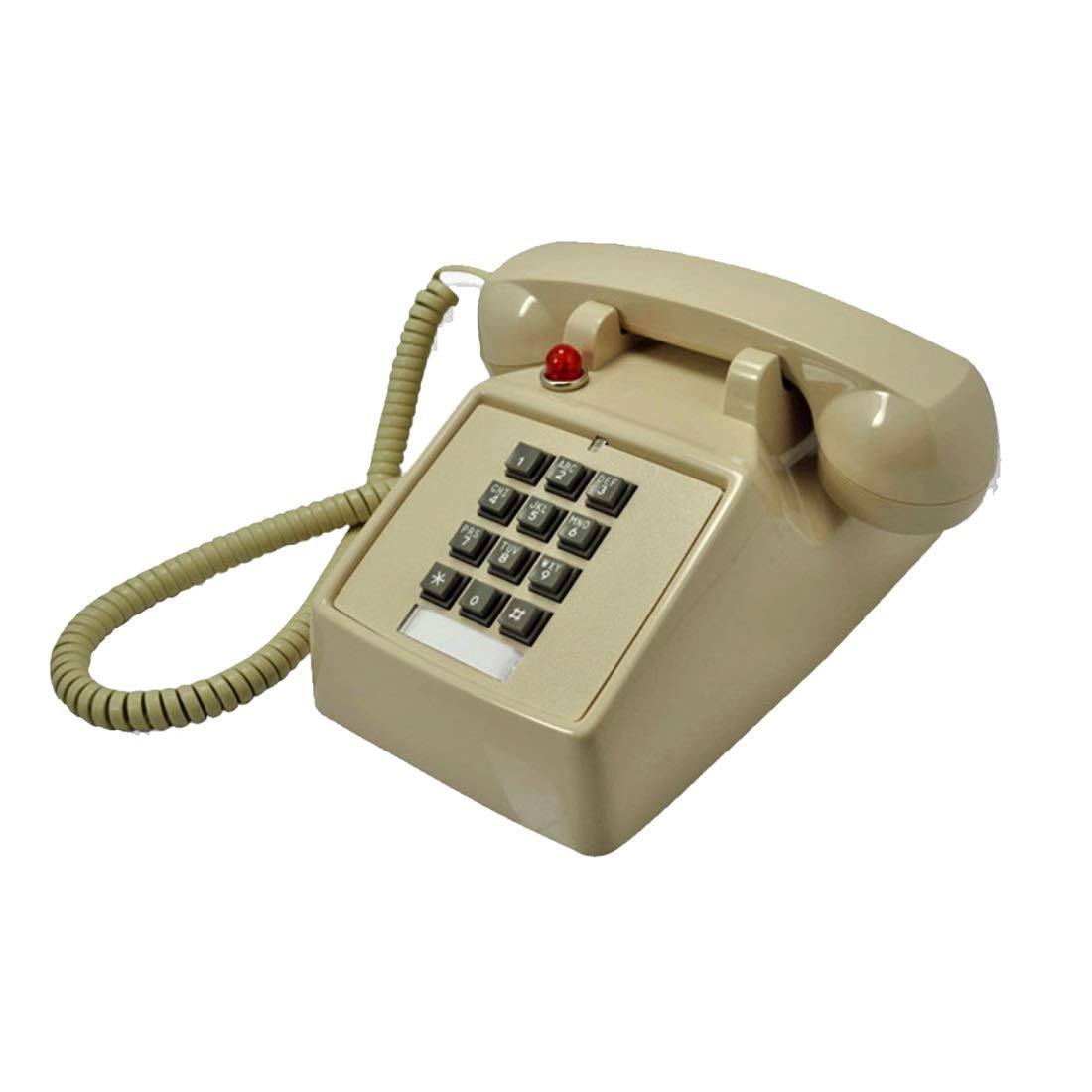 ZHILIAN White Black Red Classic European Family Landline Fixed Telephone Simple Decorative Phone with Indicator Light (Color : White)