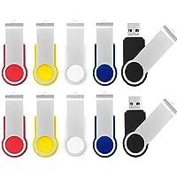 AreTop 10Pcs 1GB USB 2.0 Flash Drive Memory stick Fold Storage Thumb Stick Pen Swivel Design