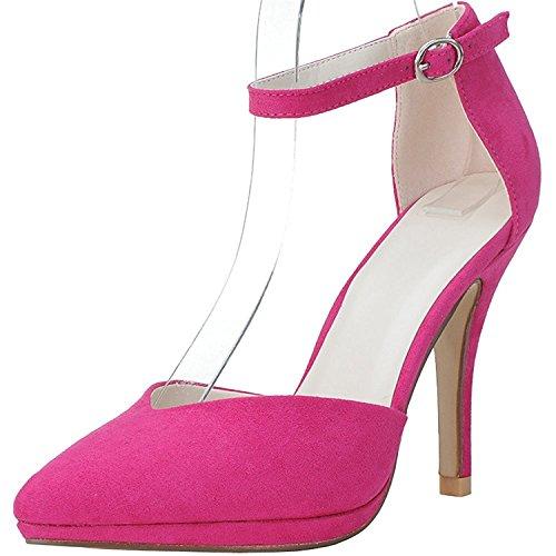 Da Cinturino Velluto Rosa Sposa Scarpe Bangfox Faux Pionted Caviglia Punta Trovano Donne Del Alto Alla Tacco TB5xq
