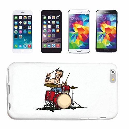 """cas de téléphone iPhone 6S """"DRUMS BATTEUR drumer TECHNO JAZZ FUNKY SOUL TRANCE FESTIVAL HOUSE HIPHOP HIP HOP DJ"""" Hard Case Cover Téléphone Covers Smart Cover pour Apple iPhone en blanc"""