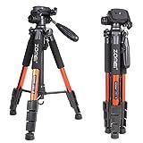 Zomei Q111 Orange Professional Aluminium Camera Tripod Camcorder Stand with Pan Head Plate for DSLR Canon Nikon Sony DV Video