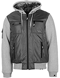 Mens Lined Zip Jacket Padded Coat Top Long Sleeve Hooded Full Warm