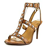 Coach Womens Isabell II Leather Open Toe Casual Strappy Sandals, Brown, Size 9.0