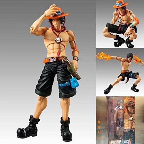 One Piece Figure Ace MH Action Figure 18CM Portgas D Ace PVC Cartoon Figurine One Piece Ace