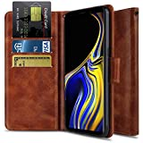 Galaxy Note 9 Case, Note 9 Phone Case, OTOONE [Flip Folio] Heavy Duty Shock Proof PU Leather Wallet Card Slot Protective Phone Cover with Kickstand for Samsung Galaxy Note 9(2018) (Bronze)
