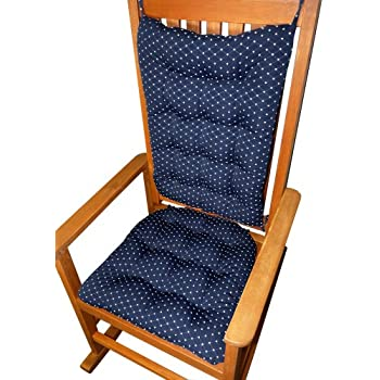 Navy Blue Rocking Chair Pads Wooden Rocking Chair Cushions Home
