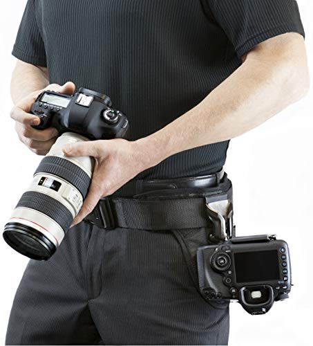 Spider Camera Holster SpiderPro Dual Camera System v2 (DCS), Belt System with Holsters for Two DSLRs, and Camera Cleaning Bundle by SpiderHolster (Image #7)