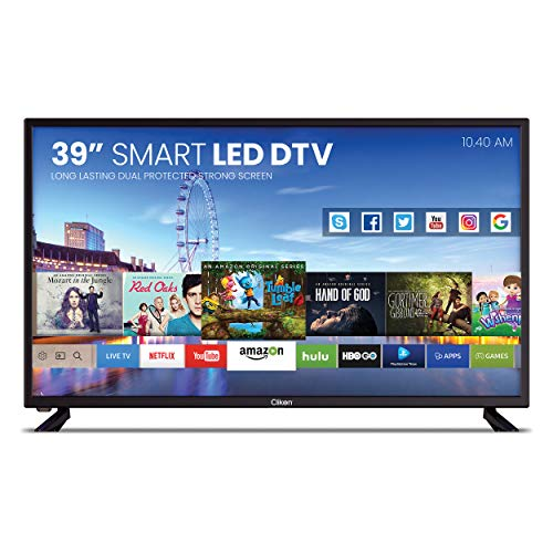 CLIKON - 39-INCH LED SMART TV, DUAL SCREEN PROTECTION, ANDROID & IOS MIRROR/CAST SUPPORT, INBUILT WI-FI, 2 x USB SLOT, VGA, RJ45, COAXIAL, MINI-LINE OUT, 2 x AV IN, DTV - CK904