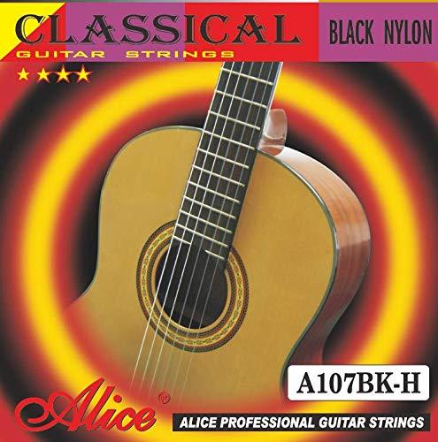 Alice A107BK-H Nylon Classical Guitar Strings,6 Strings/Set, Hard Tension.0285-.044,Anti-Rust Coating FengLan Co. Ltd.