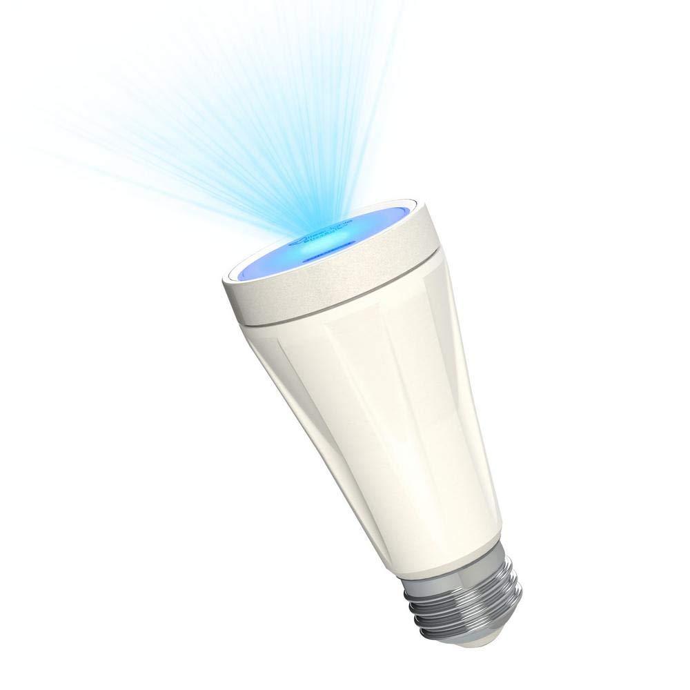 BlissLights BlissBulb - Laser Star Projector, Galaxy Lighting for Party, Holidays, Night Lights, Patios (Indoor/Outdoor, Standard E26 Base) - Blue