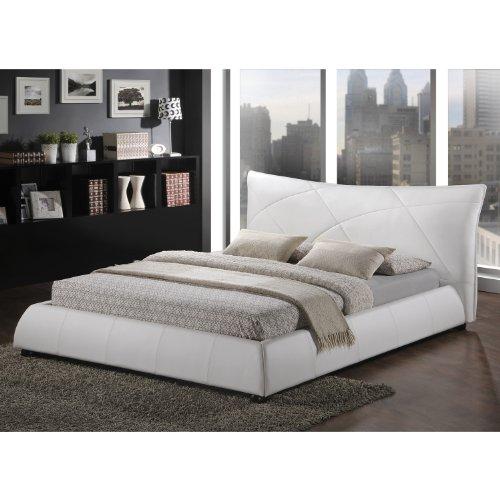 Baxton Studio Corie Modern Platform Bed, Queen, White