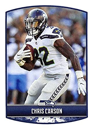 2018 Panini NFL Stickers Collection  427 Chris Carson Seattle Seahawks  Official Football Sticker 600fb5c03