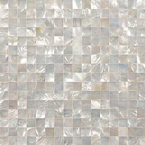 Siciz Silver Seamless Seashell Tile Mother Of Pearl Mosaic Tiles Genuine Shell Tiles 5 Square Feet Amazon Com