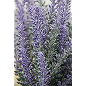 4pcs Artificial Flocked Lavender Bouquet in Purple Flowers Arrangements Bridal Home DIY Floor Garden Office Wedding Decor 2