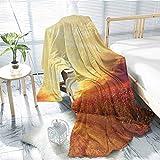 Mademai Scenery VelvetPlushBlanket Floral