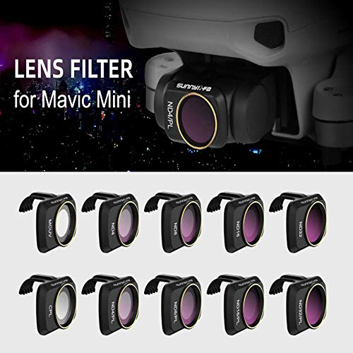 Baoer RC Drone Lens Filter Set ND CPL NDPL MCUV Kits for Mavic Mini Airplane Mini Camera Accessories Multi-Layer Coating Optical Glass ND4 + ND8 + ND16 + ND32