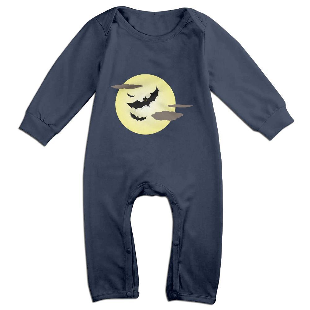 Efbj Baby Rompers Black Bat Halloween Coverall Romper Unisex Bodysuit Clothes Jumpsuit Pajamas