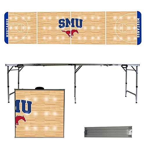 NCAA Southern Methodist University Mustangs SMU Basketball Court Version 8-Feet Folding Tailgate Table by Victory Tailgate