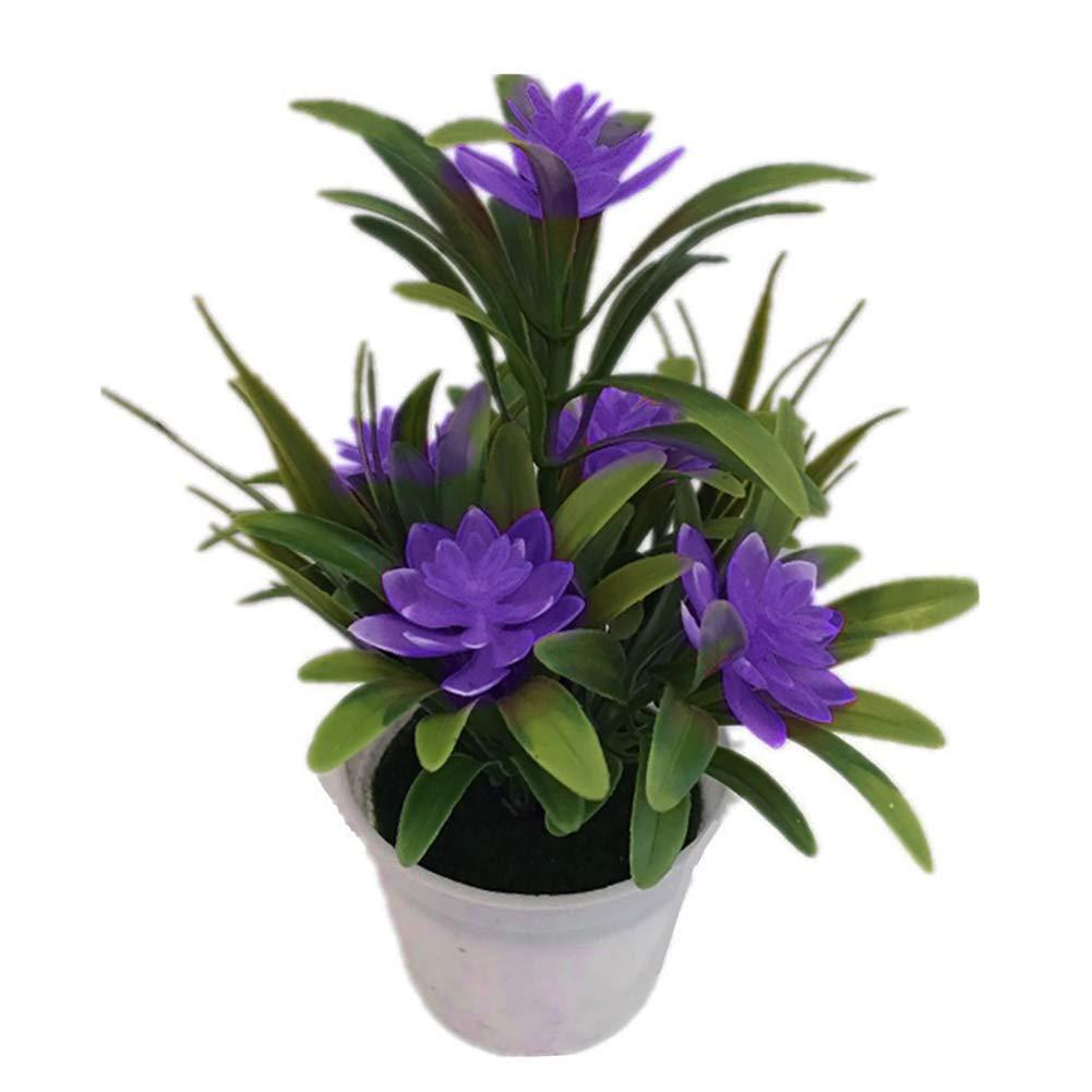 pl/ástico Approx. Flores Artificiales Reutilizables de Flor de Loto con jarr/ón para decoraci/ón del hogar Amarillo 7.09 x 3.94 Shangwelluk