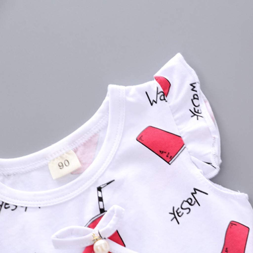 Pantaloncini Set Abbigliamento Bimbo 18 24 Mesi Bambini Pantaloni Vestiti Set Estate Bambini Set Vestiti Bambini Abiti in Abbigliamento Bambini di Volare Manica Cartoon Alfabeto Coppa Stampa Top