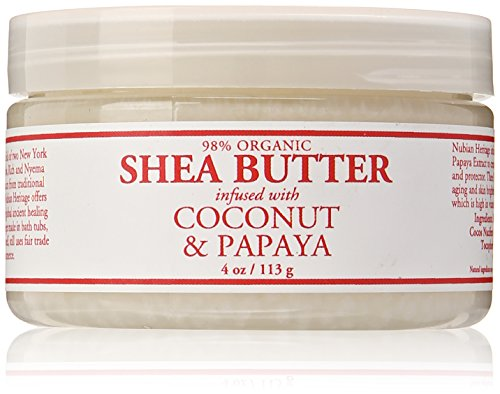 Nubian Heritage Shea Butter Lotion, Coconut and Papaya, 4 Ounce