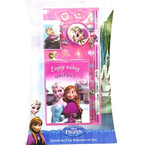 Stationery set 'Frozen - Reine Des Neiges'fuchsia (5 piece).