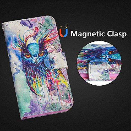 Protecteur Mignon Magnétique Fonction Housse 2018 Samsung Galaxy Support Painted 2018 Painted Protection Etui PU 3D BONROY 3D Portefeuille Cas de Owl Coque Cuir A530 Étui pour A8 avec A5 Panda OTqnXx1zvw