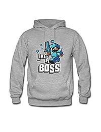 Like a Boss Minecraft For boys/girls Printed Sweatshirt Pullover Hoody