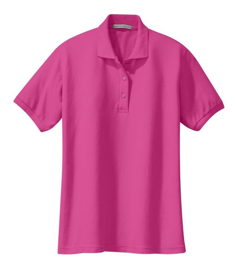 Joe's USA tm Ladies Short Sleeve Polo Shirt-Tropical Pink-L