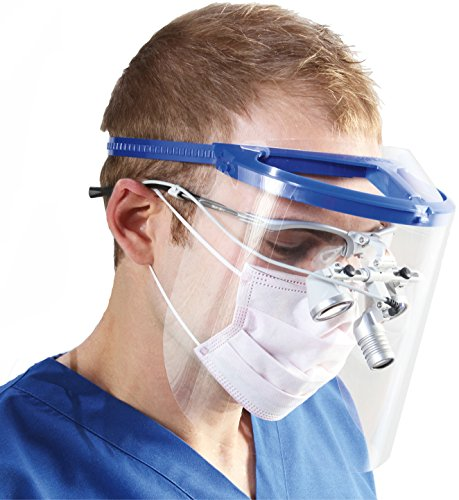 (Bio-Mask Face Shield With 10 Shields (Royal Blue))