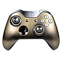 eXtremeRate® Antique Brass Bronze Face Plate Front Top Shell Custom Parts For Xbox One Controller