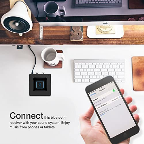 Esinkin Wireless Audio Receiver for Music Streaming Sound System Works with Smart Phones and Tablets, Wireless Adapter for Speakers