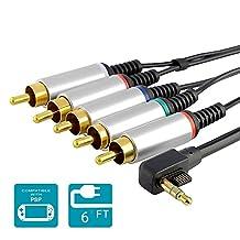 TraderPlus Premium PSP Component AV Cable for Sony PSP Slim 2000/ 3000