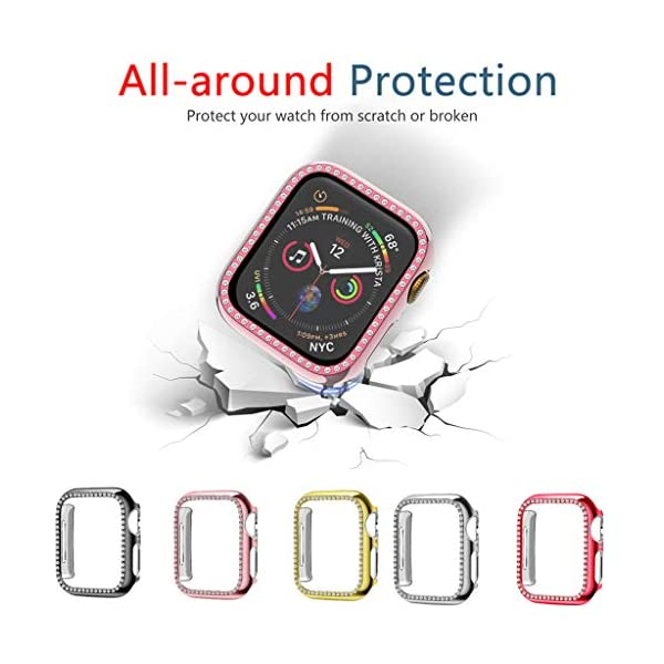 Sodoop Bling Protective Face Bumper Case Cove Compatible for Apple Watch 38mm 42mm...
