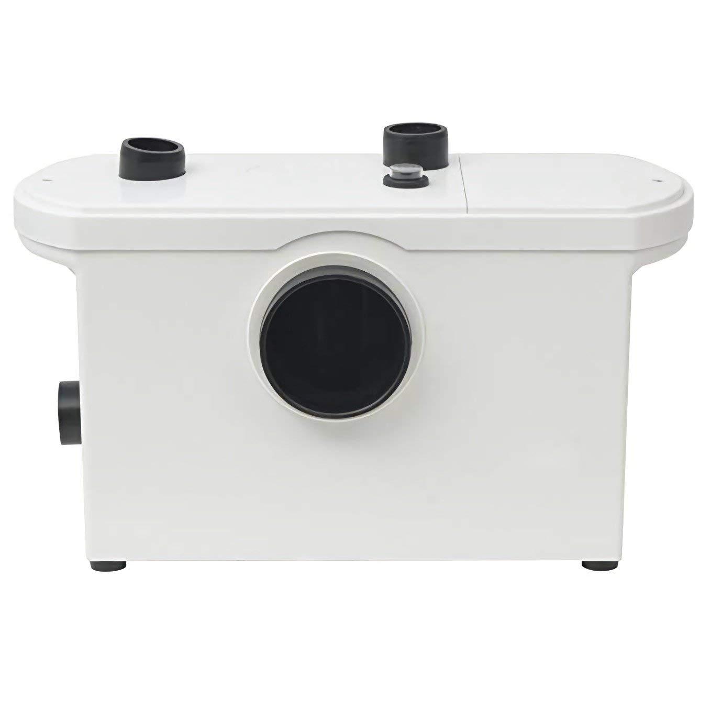 Toilet Macerating Pump,Kitchen Waste Water Disposal Pump,Reamer crush Function,Automatic start stop,AC 110V 400W High Power Saving Function Toilet Macerator Pump White (600W-Front)