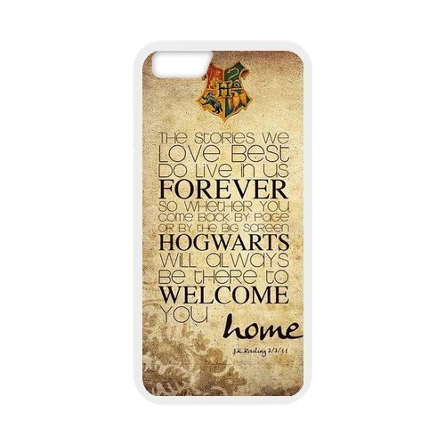 Fayruz- Personalized Protective Hard Textured Rubber Coated Cell Phone Case Cover Compatible with iPhone 6 & iPhone 6S - Harry Potter Hogwarts F-i5G831