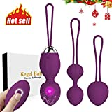 2 in 1 Kegel Exercise Weights Ben Wa Balls Sets Kegel Balls for Women Beginners & Pleasure - Doctor Recommended for Bladder Control &...