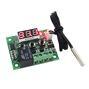 DC 12V LED Digital Thermostat Temperature Control Thermometer Module,NTC Sensor