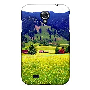 Snap-on Case Designed For Galaxy S4- Village In The Foot Of The Mountain
