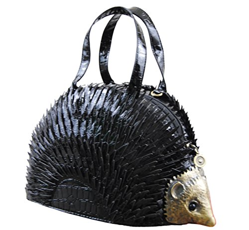 Bag Shaped Shoulder Hedgehog Handbag Ladies Black Novelty f7Pwq