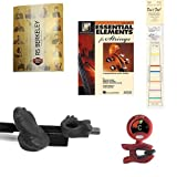 violin bow position - Violin Players Instructional Pack (For 4/4 Full Size Violin)- Essential Beginners Pack for the Violin Includes: Black Bow Hold Buddy Violin Teaching Aid, Don't Fret Position Indicator for 4/4 Violin, Band Folder, Essential Elements 2000 Book 1 for Violin, & Tuner & Metronome
